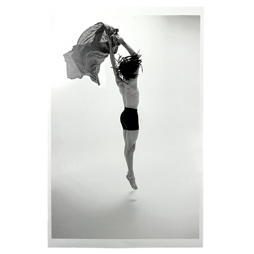 Jumping Dancer with Cloth Photographic Print by Hobbs