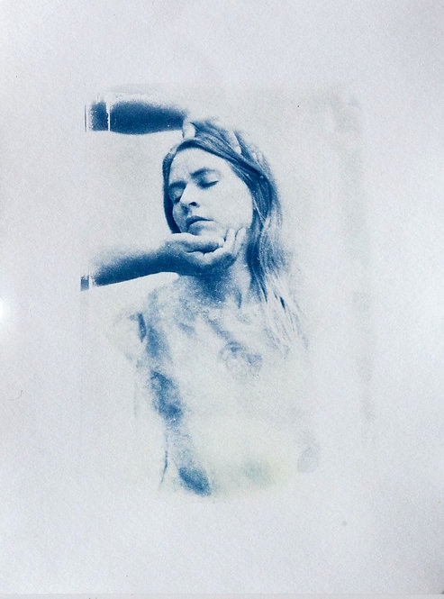 Untitled 2 Cyanotype by Katharine T. Jacobs
