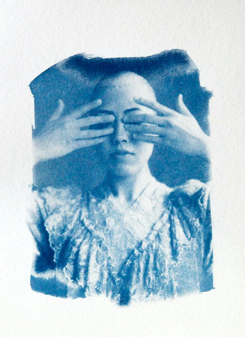 Untitled 1 Cyanotype by Katharine T. Jacobs