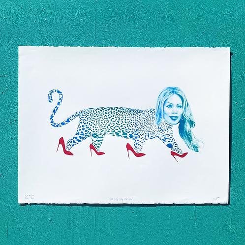 """Here Kitty Kitty Cat Cox"" 22x30 Screenprint by Jonathan Hanisits"