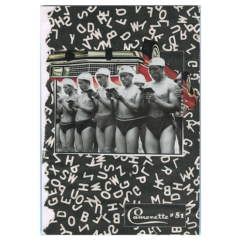 """Book Club"" Handmade Original Collage by Lara Rouse"