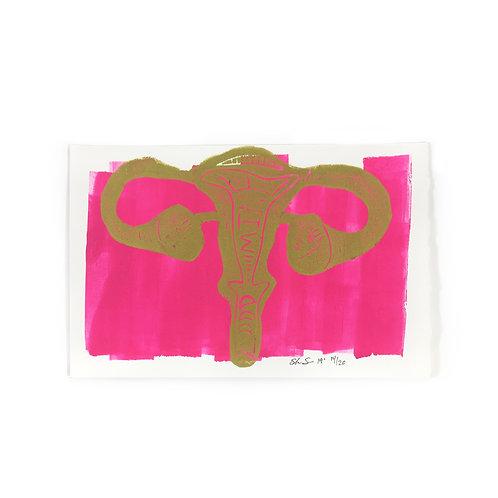 Uterus Print by Poppy Mine