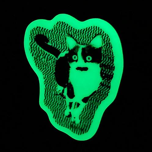 Glow-in-the-dark Kitten Sticker by Rachel Mulder