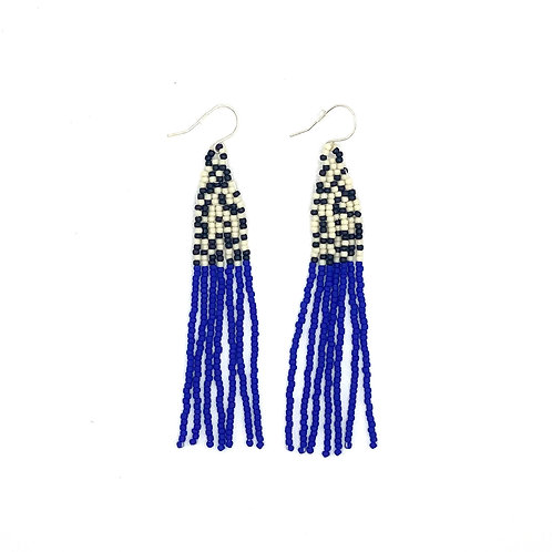 Extra Long Fringe Seed Bead Earrings by Neighbor Jewelry