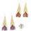 """Thumbnail: 3.25"""" Matte Cream Triangle with Chevron Seed Bead Earrings by Neighbor Jewelry"""