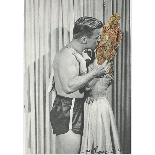 """I Love Potheads"" Handmade Original Collage by Lara Rouse"