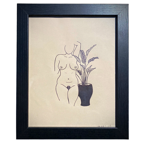 Hand-drawn This is Paradise Original Line Art by Alrescha Co. in Black Frame