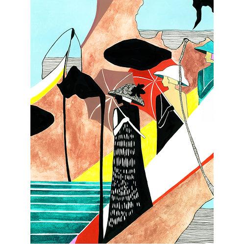 """""""Le Grande Jatte"""" Print by Emily Kepulis"""