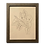 Thumbnail: Hand-drawn Leaf Me Be by Alrescha Co. in Brown Frame