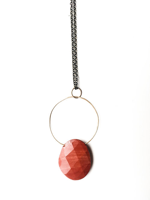 Red Jasper Pendant by Rivet & Rise
