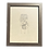 Thumbnail: Hand-drawn Monstera Face Original Line Art by Alrescha Co. in Brown Frame