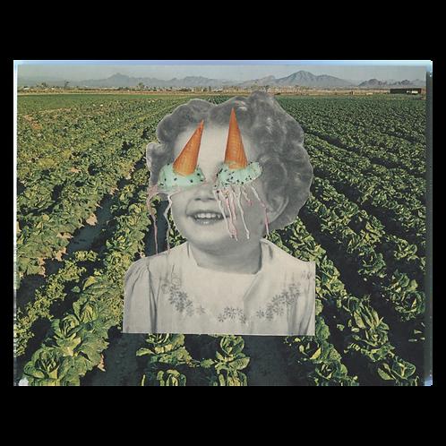"""Meltdown"" Handmade Original Collage by Lara Rouse"