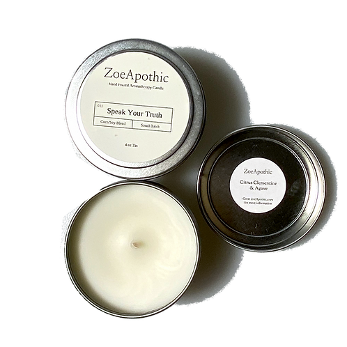 4 oz Scented Soy/Coconut Candle in Tin by ZoeApothic