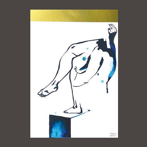 """Always Reaching"" Gold Foil Print by Ursula Barton"