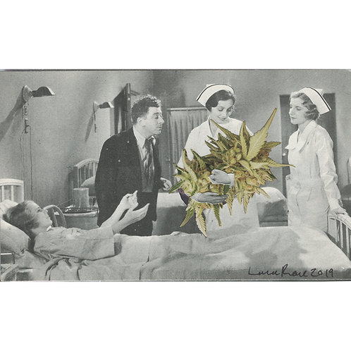 """""""Don't Bogart the Baby"""" Handmade Original Collage by Lara Rouse"""