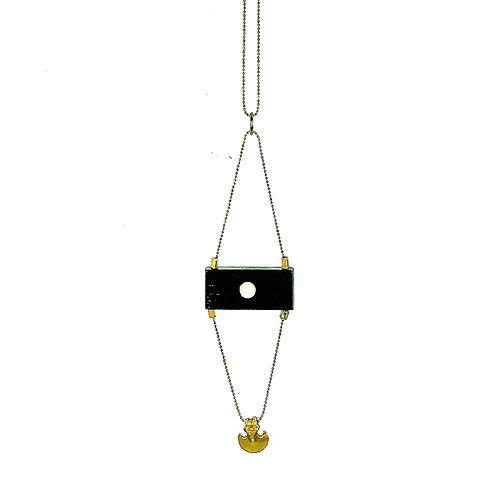 Ebonized Wood and Pendant Necklace by MAKEMAKE