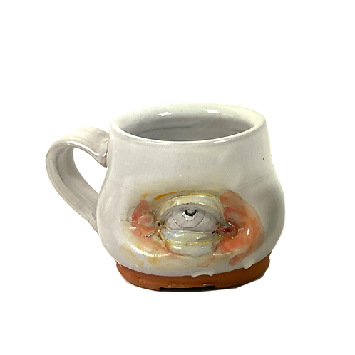 Eye See You Mug with Colored Corners by The Wright Clay