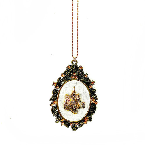 Tiger Cameo Necklace by MAKEMAKE