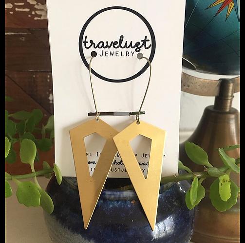 Brass Kite Earrings by Travelust