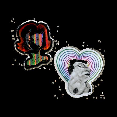 Bosom Buddies Stickers by Rachel Mulder