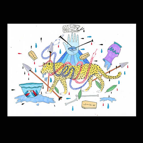 Untitled Cheetah Print by Tenya Rodriguez