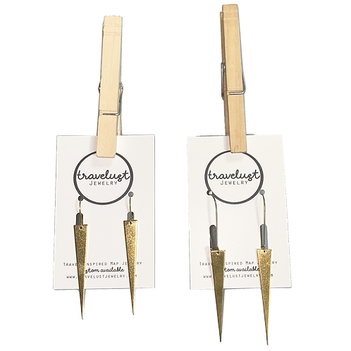 Brass Dagger Earrings by Travelust