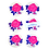 Thumbnail: Letterpress Rose Coaster Set  by Letra Chueca Press
