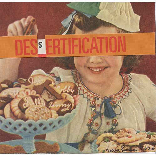 """Dessertification"" Handmade Original Collage by Lara Rouse"