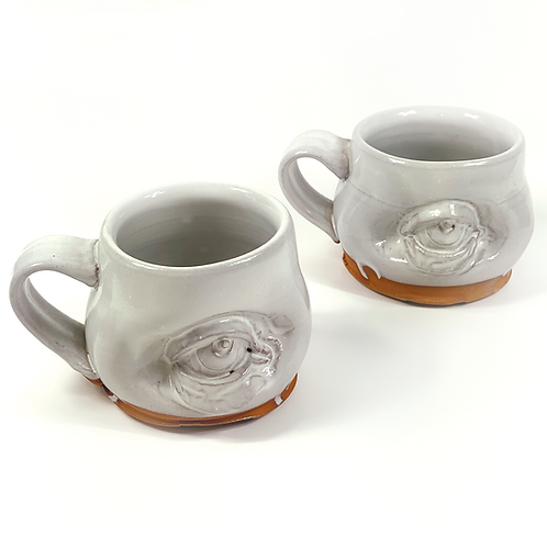 Eye See You Mug in White by The Wright Clay