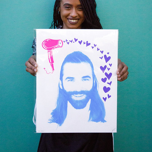 """Yes Henny"" JVN 11x14 Screenprint by Jonathan Hanisits"