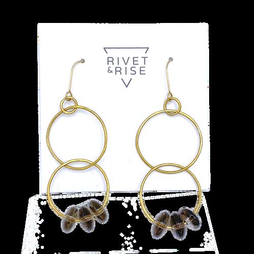 Smokey Topaz Earrings by Rivet & Rise