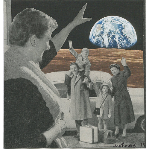 """Granny is a Moonperson"" Handmade Original Collage by Lara Rouse"