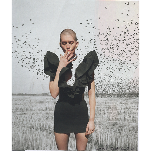 """Smoking"" Handmade Original Collage by Lara Rouse"