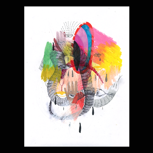 Untitled Snake Print by Tenya Rodriguez