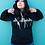 Thumbnail: Portland Fremont Bridge Unisex Gold on Black Hooded Sweatshirt by Ursula Barton