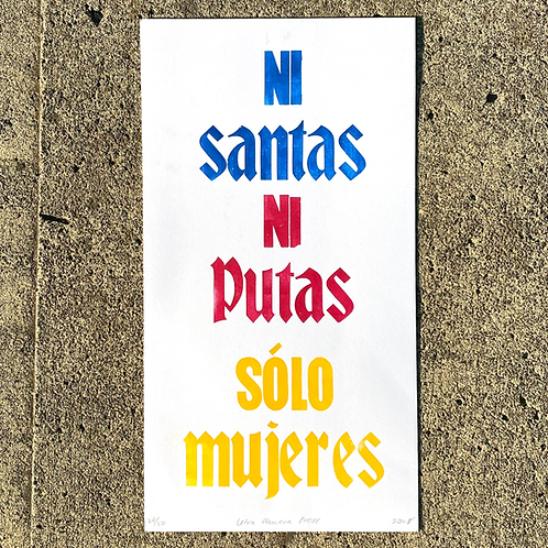 Ni Santas poster by Letra Chueca Press