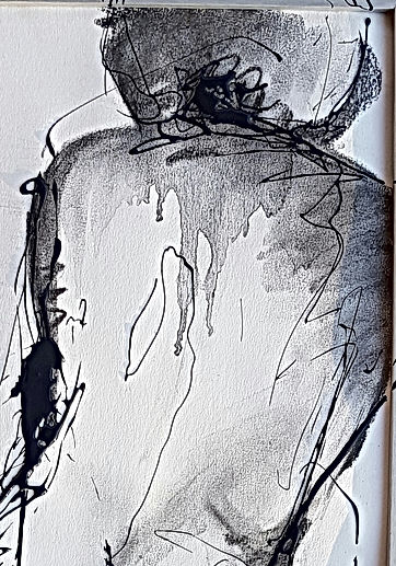 A LA FENETRE 2017 fusain (40x102) trefer