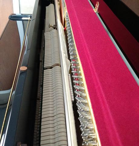 Studio Piano Action - Top View