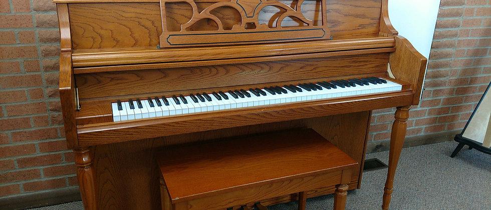 Samick Oak Console Piano
