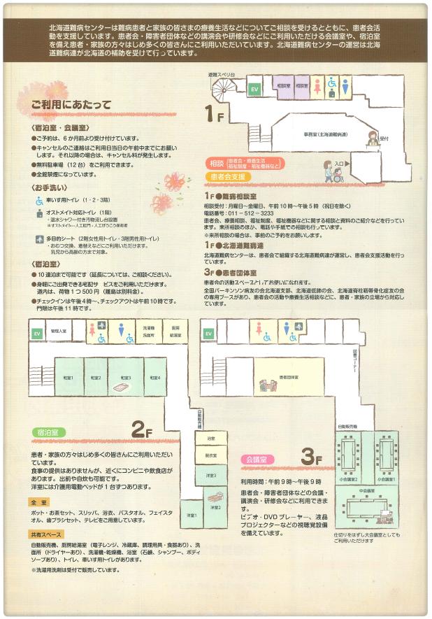 北海道難病センター_館内図