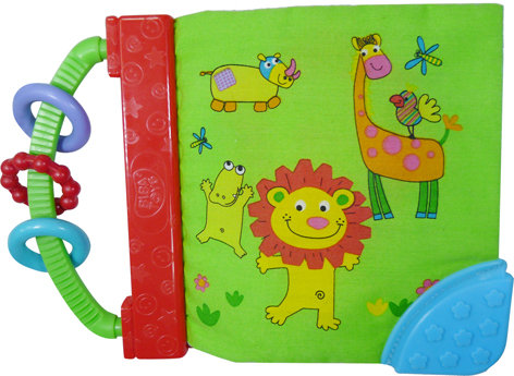 My Jungle Friends Book with Teether