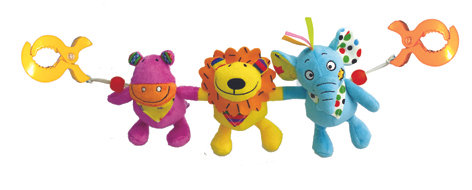 My Jungle Friends Clip-on Toys