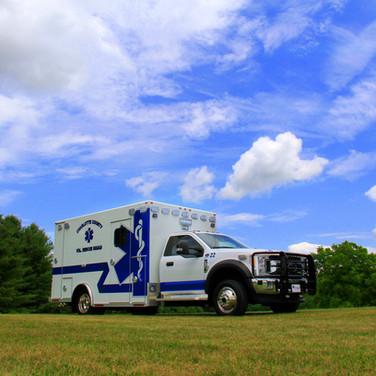 Charlotte County Vol. Rescue Squad (Keysville, VA) Ford F550 4x4 Osage Super Warrior Ambulance - Sold By Vest's Sales & Service