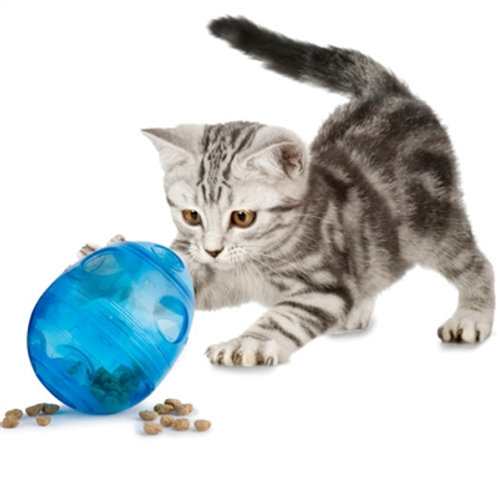 Egg-Cersizer Cat Feeder Toy By  Petsafe