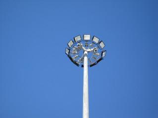 Мачта ВМО, со светодиодными светильниками, город Актобе!
