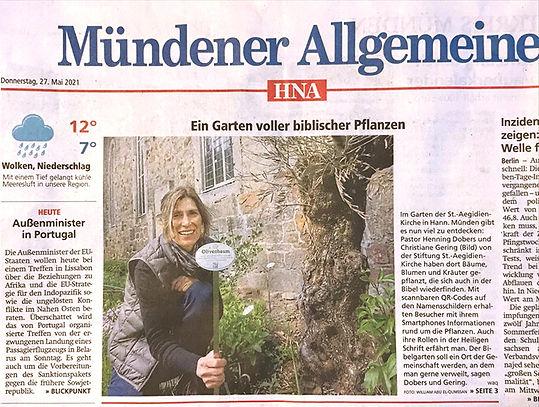 Titelseite Mindener Allgemeine