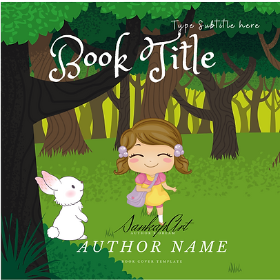 Children's Book Cover Design Template