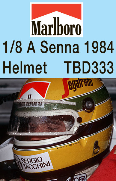 1/8 AYRTON SENNA  MISSING HELMET DECALS F1  1984  TB DECAL TBD333