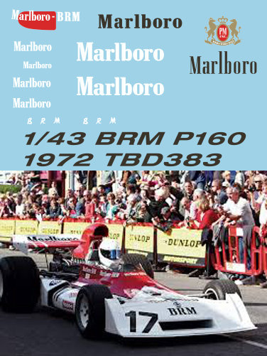 1/43 F1 BRM P160B  1972 Sponsor  Decals TB Decal TBD383