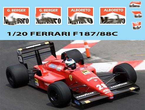 1/20  SPONSOR for Fujimi Ferrari F187/88C TBD71